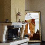 Жидкие обои в интерьере гостиной - фото (6)