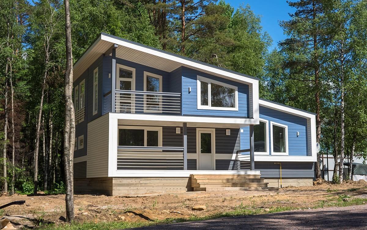 Дом в скандинавском стиле с односкатной крышей