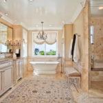 Ковер в интерьере ванной комнаты - фото (3)