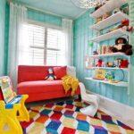 Ковер в интерьере детской комнаты - фото (7)