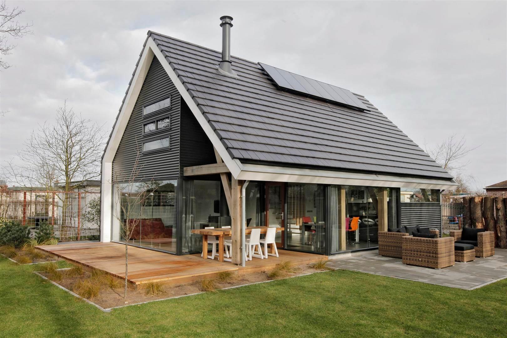 Терраса к дому в скандинавском стиле