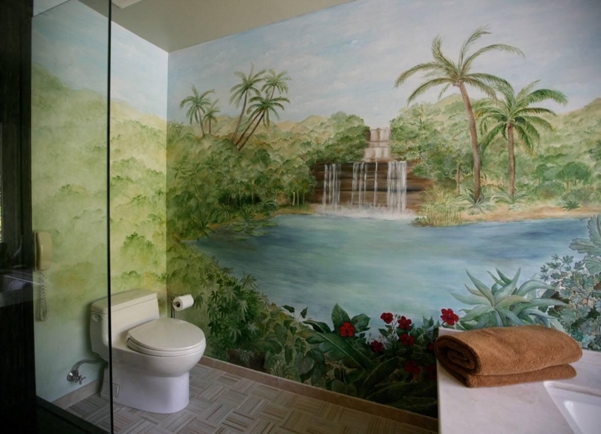 Фотообои в ванной картинки