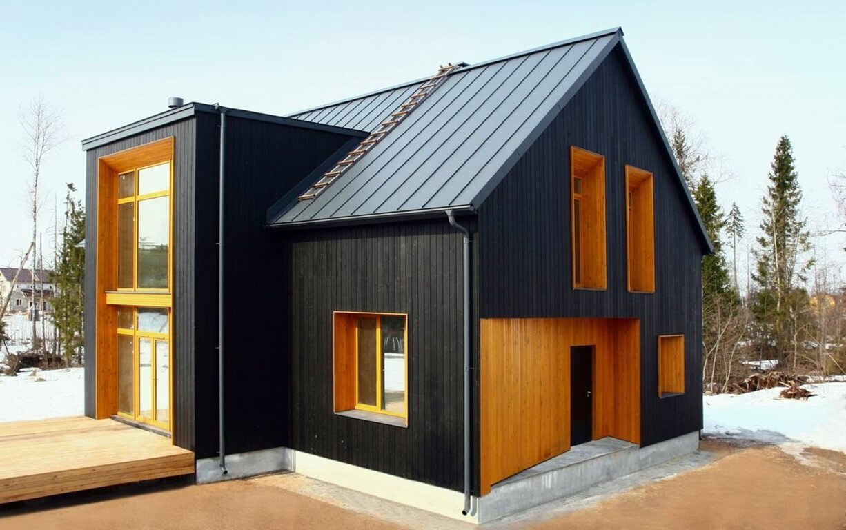 Черный дом в скандинавском стиле