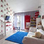 Бумажные обои в интерьере детской комнаты (7)