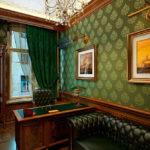 Бумажные обои в интерьере кабинета (3)