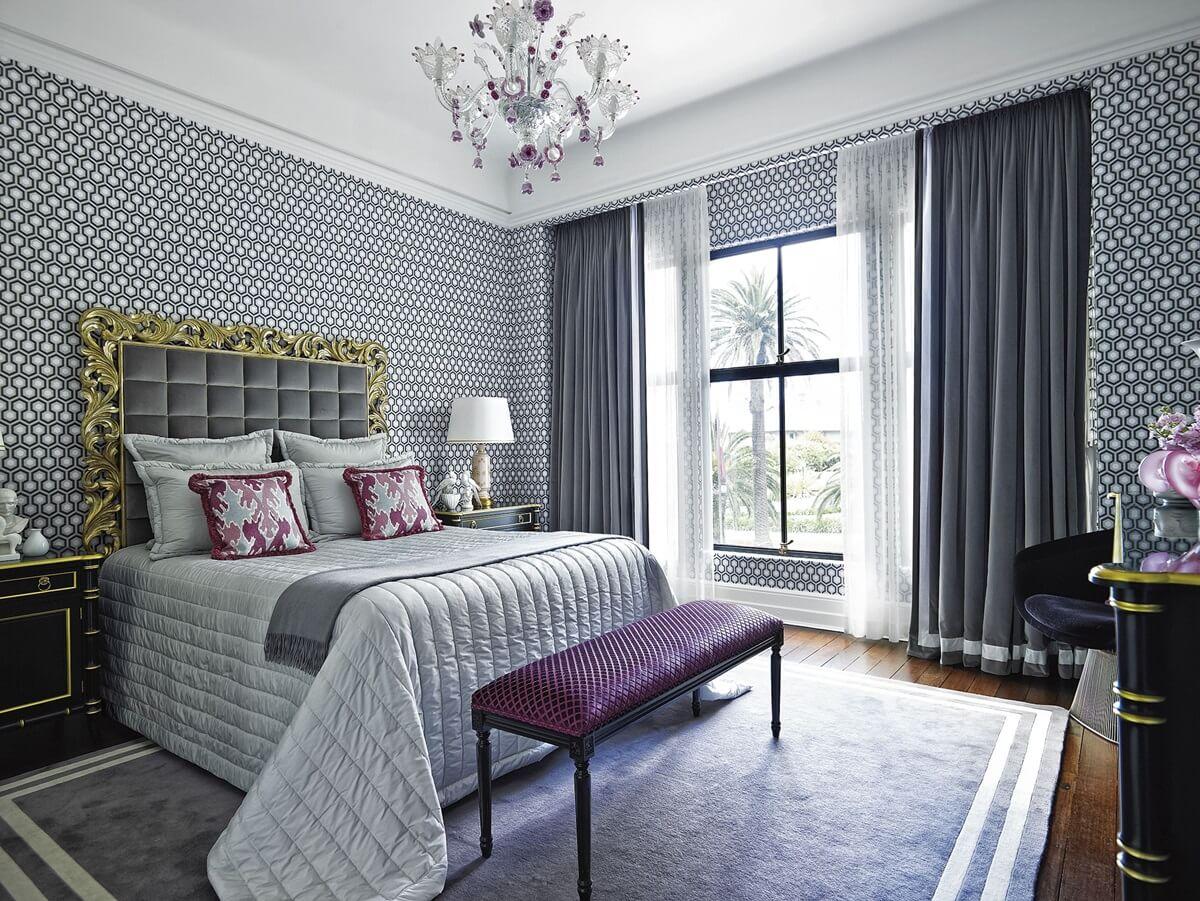 Бумажные обои в интерьере спальни (11)
