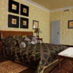 Бумажные обои в интерьере спальни (3)