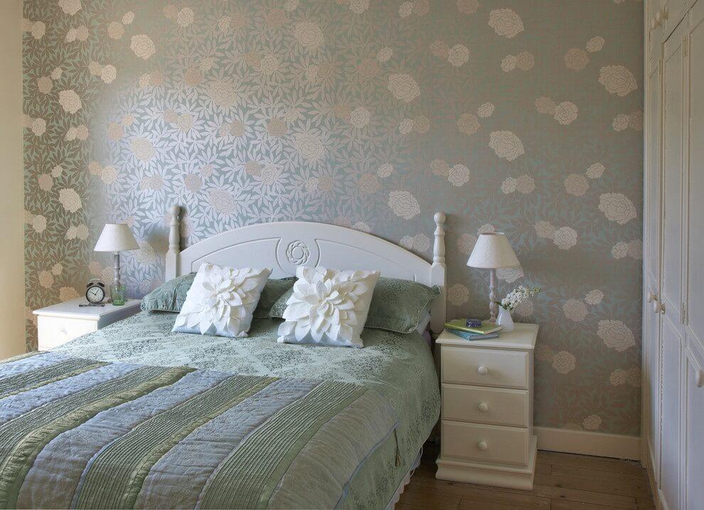 квартире бумажные обои для спальни фото мать
