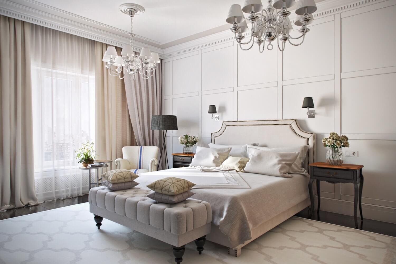 Декор и аксессуары для спальни в неоклассическом стиле