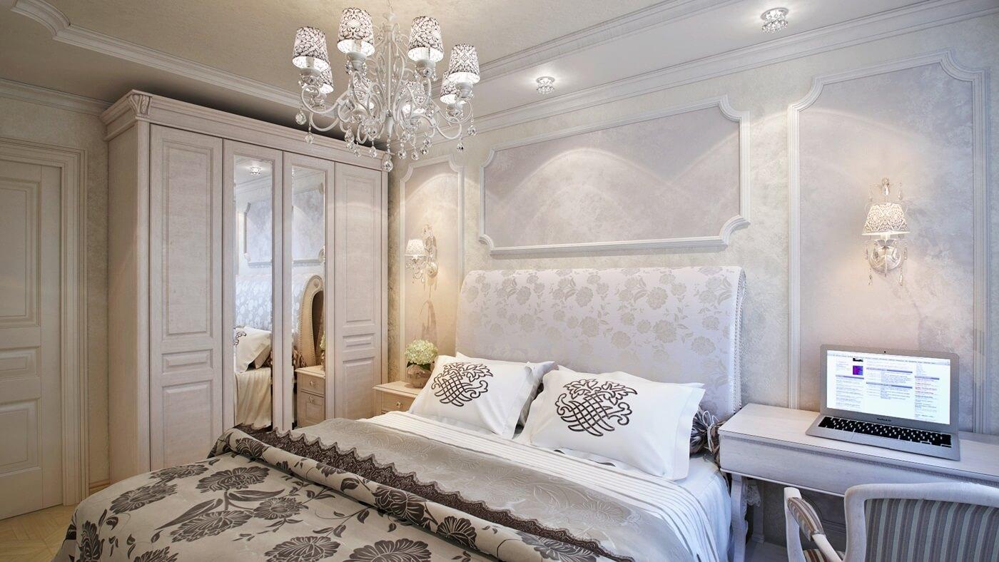 Изголовье кровати в стиле неоклассика (2)