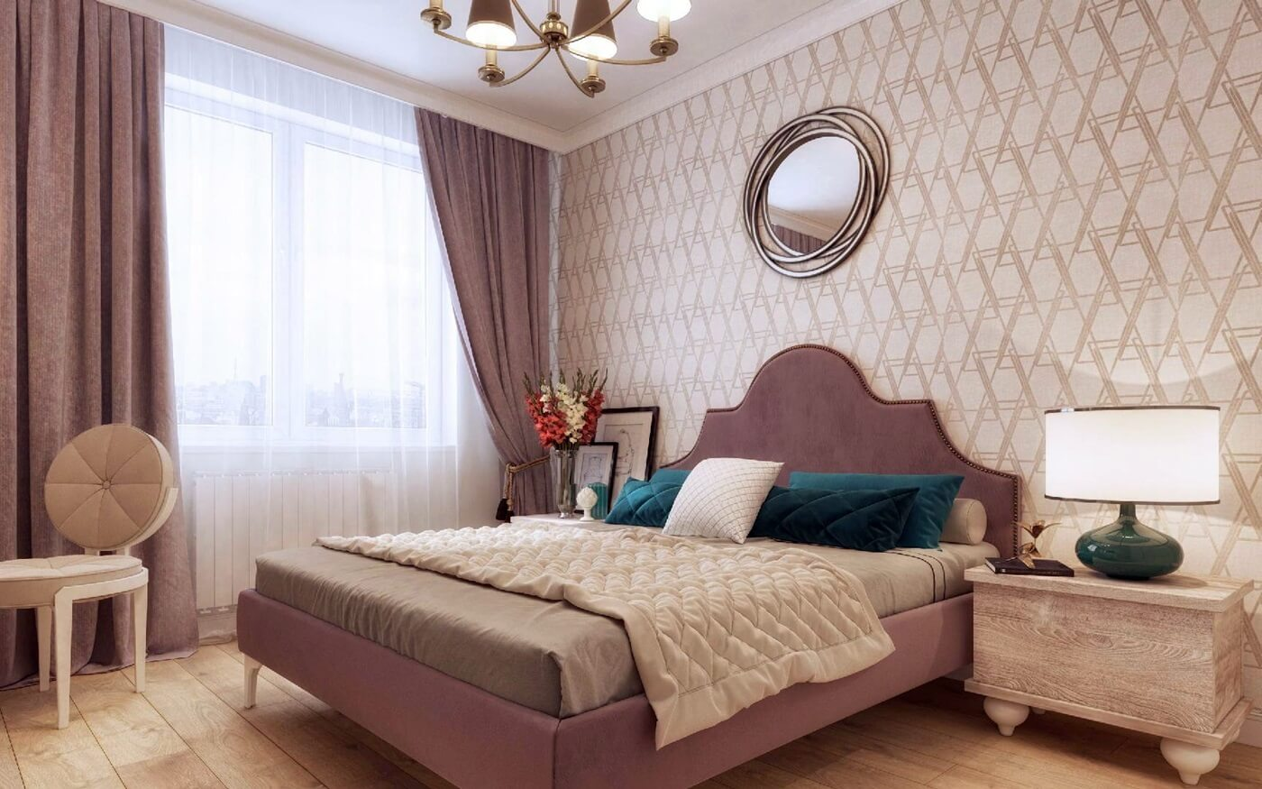 Изголовье кровати в стиле неоклассика (4)