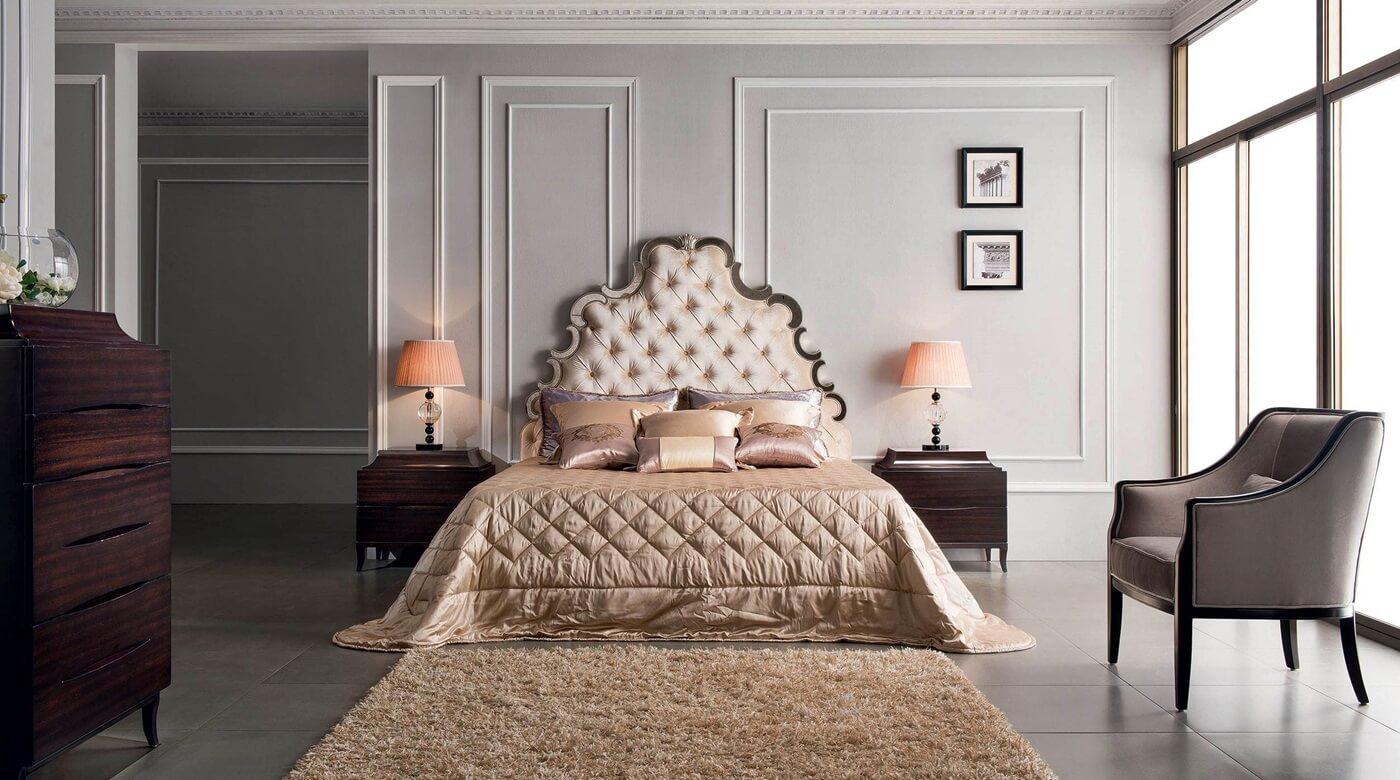 Керамическая плитка на полу в спальне