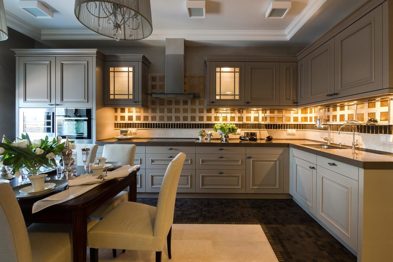 кухни в американском стиле фото цветочных салонов