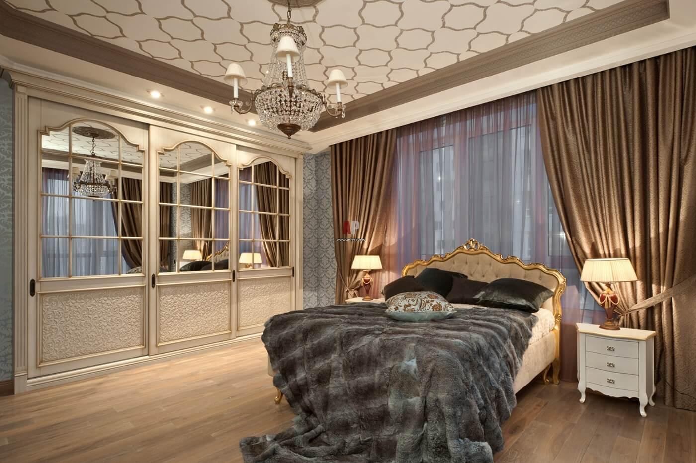 Напольное покрытие для спальни в стиле неоклассика