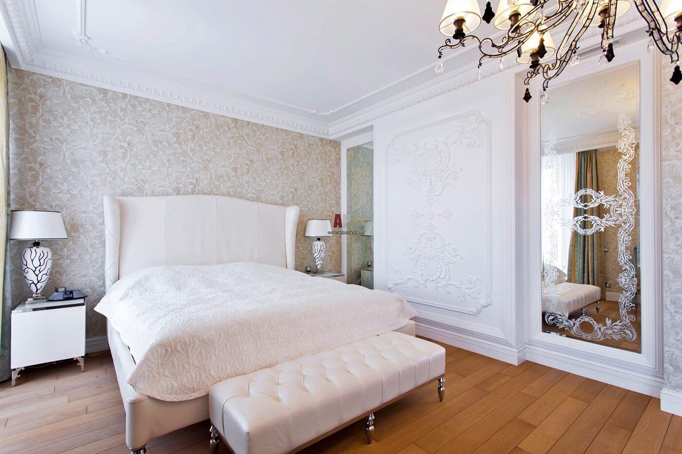 Обои для спальни в стиле неоклассика