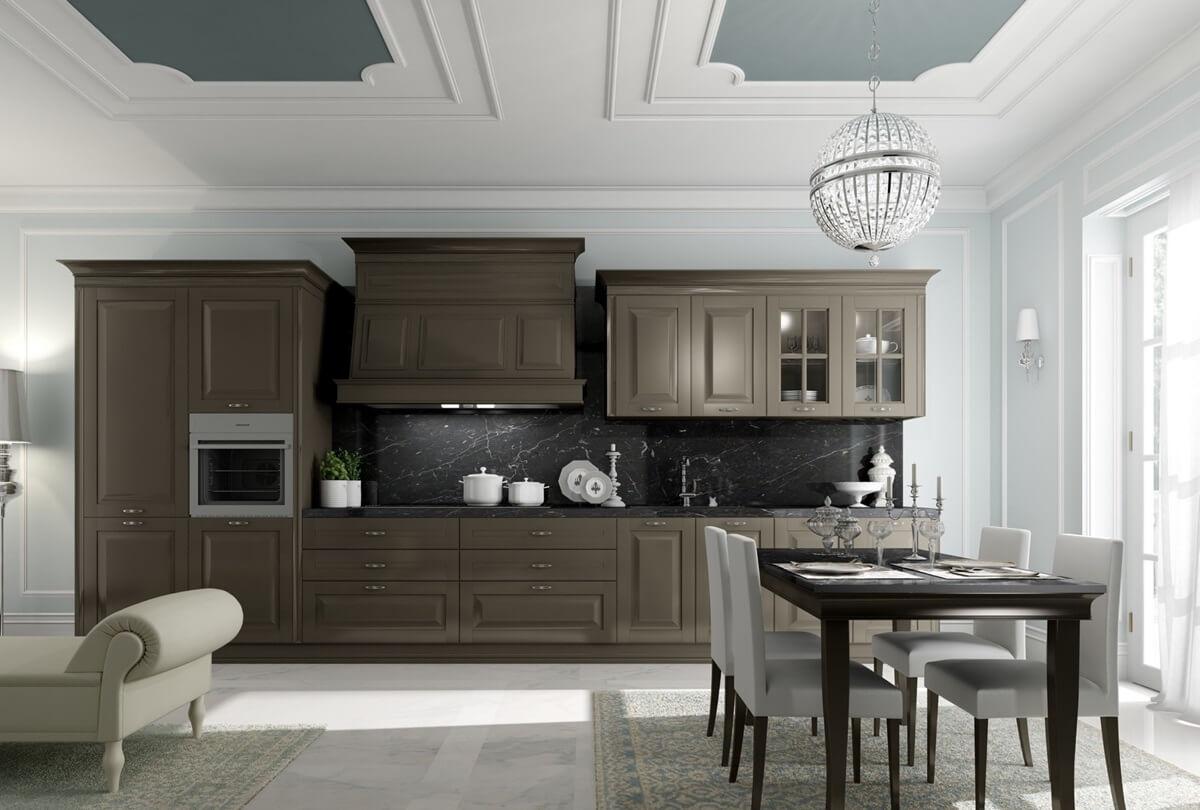 Потолок на кухне в неоклассическом стиле
