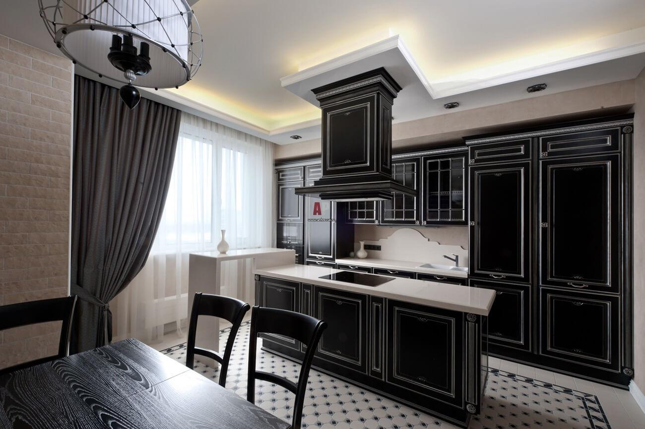 Светодиодная подсветка для кухни в неоклассическом стиле