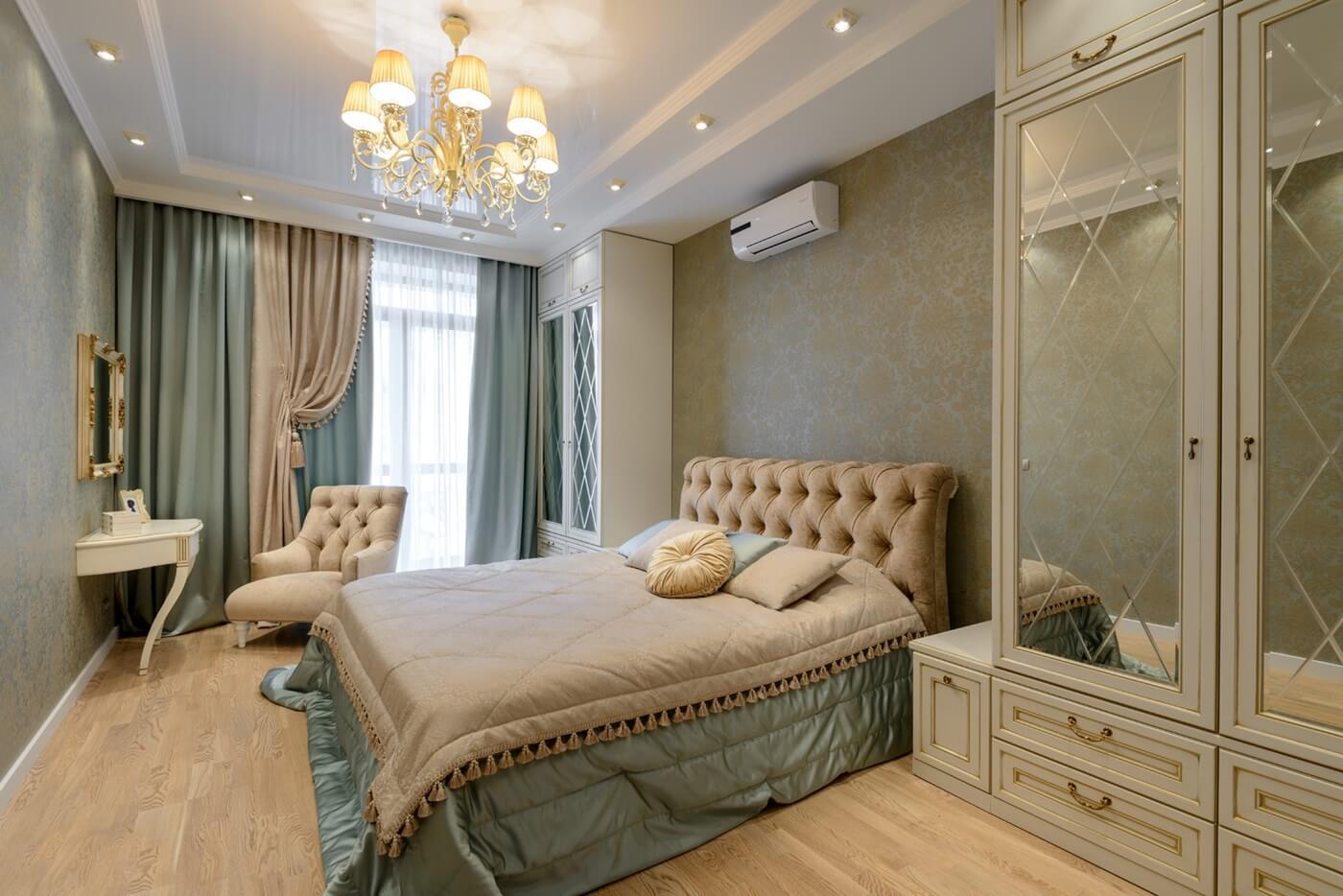 Текстиль для спальни в стиле неоклассика