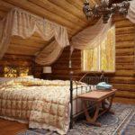 Дизайн спальни в стиле кантри (4)