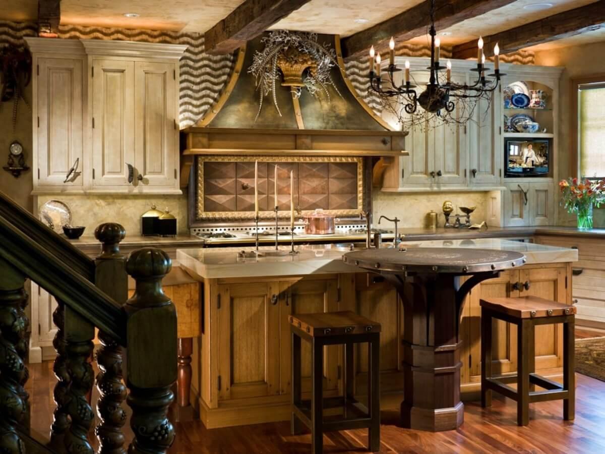 Кухня в стиле кантри - фото