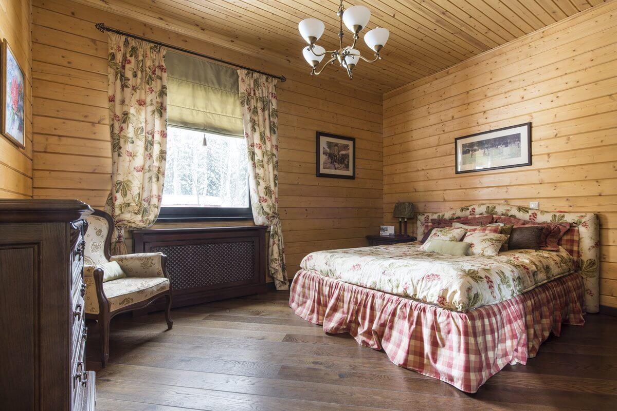 Пол спальни в стиле кантри