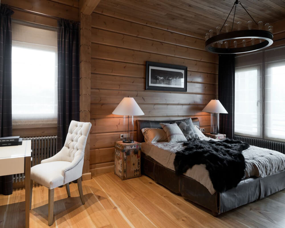 Спальня в стиле кантри - фото