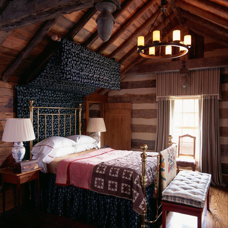 Текстиль в интерьере кантри-спальни