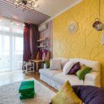 Акцентная стена в интерьере гостиной (2)