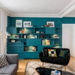 Акцентная стена в интерьере гостиной (4)