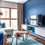 Акцентная стена в интерьере гостиной (6)
