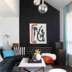 Акцентная стена в интерьере гостиной (8)