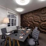Акцентная стена в интерьере кабинета - фото (5)