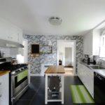 Акцентная стена в интерьере кухни и столовой - фото (3)