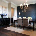 Акцентная стена в интерьере кухни и столовой - фото (4)