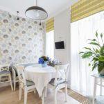 Акцентная стена в интерьере кухни и столовой - фото (5)