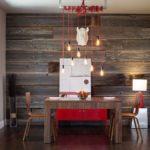 Акцентная стена в интерьере кухни и столовой - фото (6)