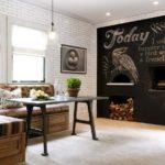 Акцентная стена в интерьере кухни и столовой - фото (7)
