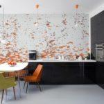 Акцентная стена в интерьере кухни и столовой - фото (8)