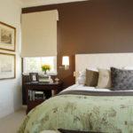 Акцентная стена в интерьере спальни - фото 1