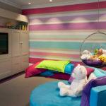 Акцентная стена в интерьере детской комнаты