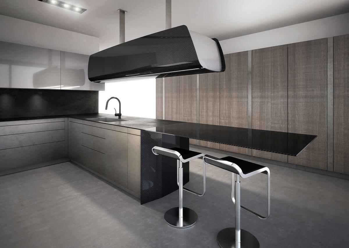 Дизайн кухни в стиле хай-тек - фото (21)
