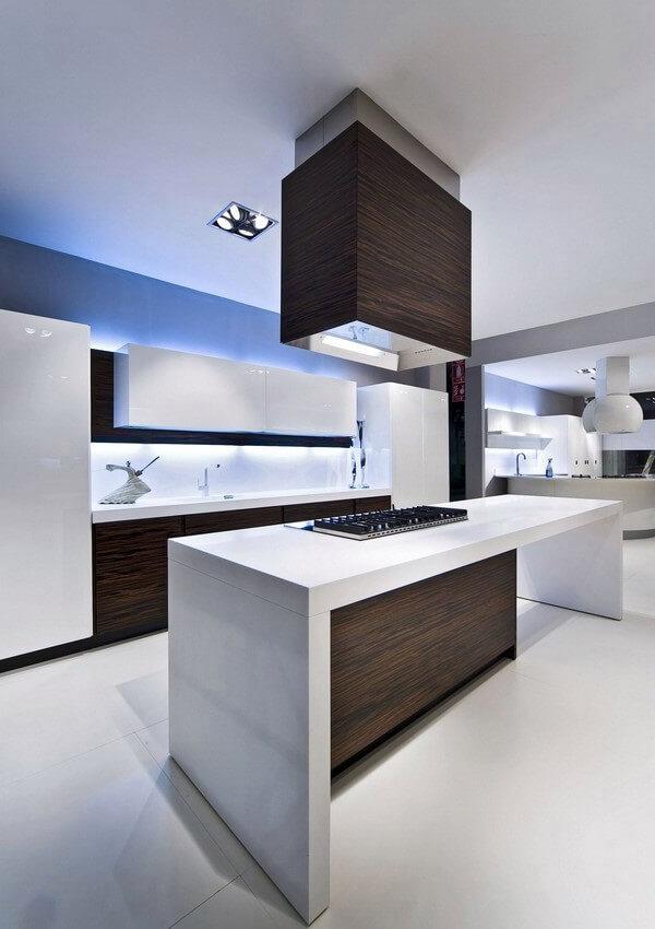 Дизайн кухни в стиле хай-тек - фото (28)