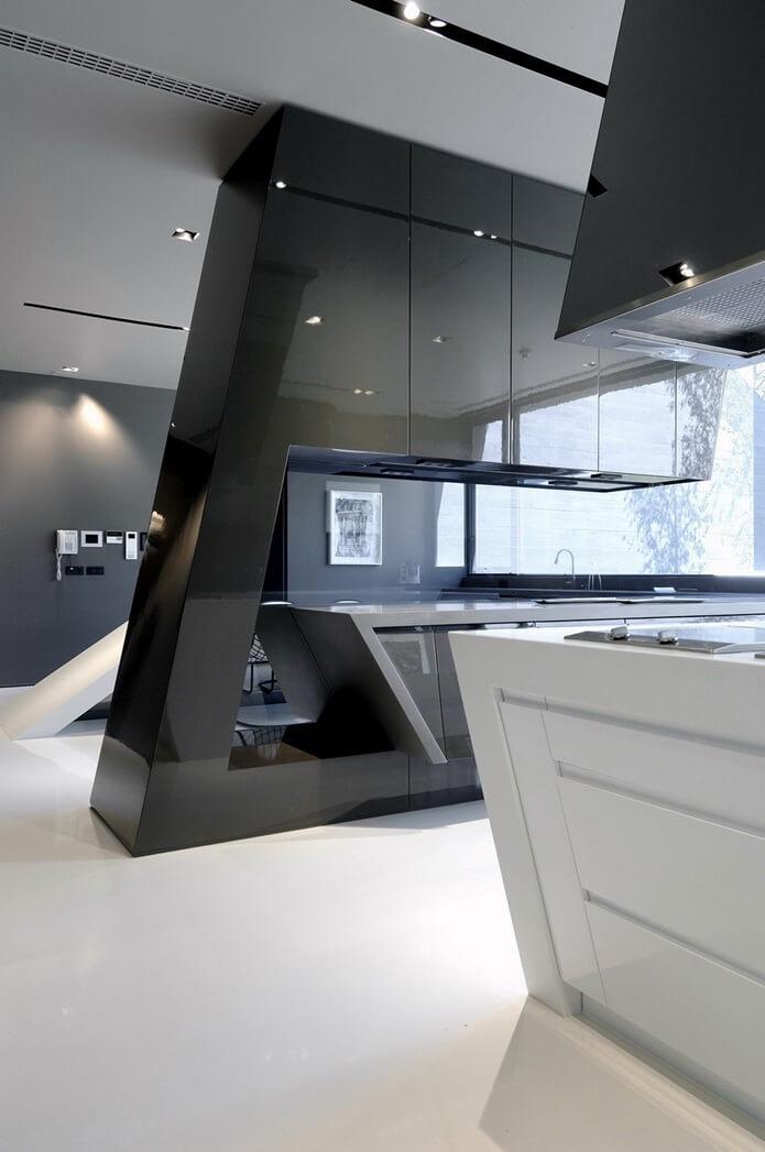 Дизайн кухни в стиле хай-тек - фото (35)