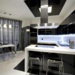 Дизайн кухни в стиле хай-тек - фото (39)