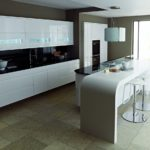 Дизайн кухни в стиле хай-тек - фото (43)