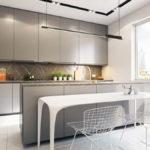 Дизайн кухни в стиле хай-тек - фото (44)
