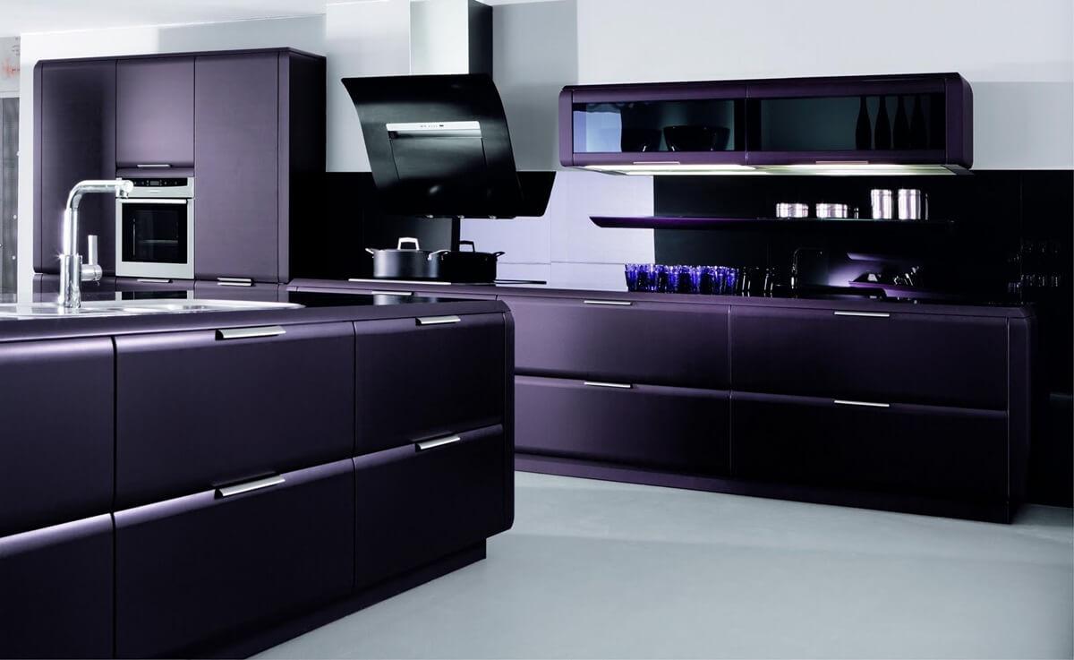 Дизайн кухни в стиле хай-тек - фото (49)