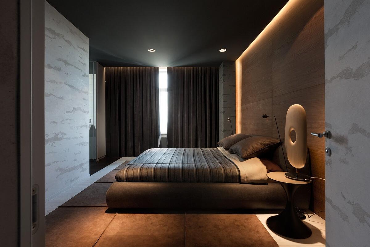 Дизайн спальни в стиле хай-тек (14)