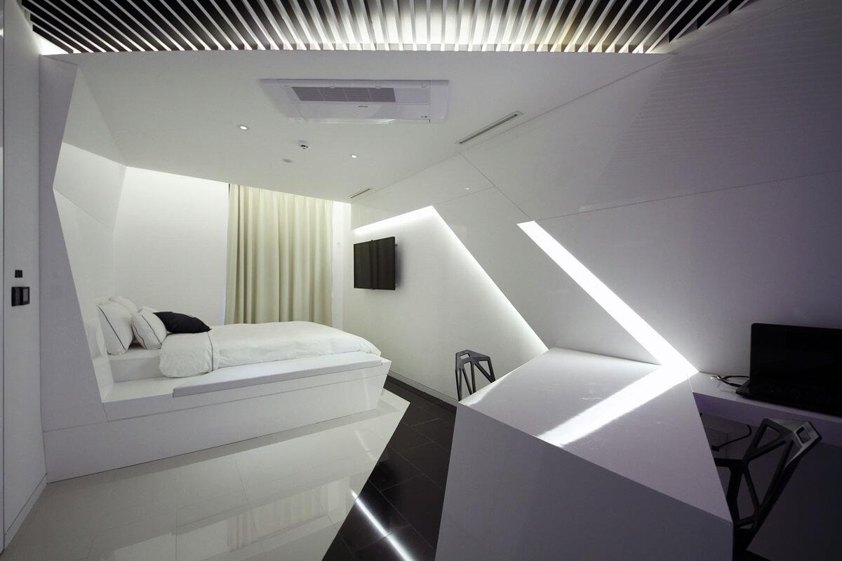 Дизайн спальни в стиле хай-тек (21)
