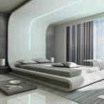 Дизайн спальни в стиле хай-тек (27)